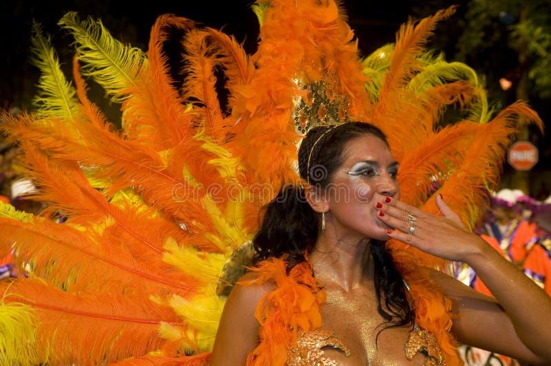 carnaval Μοντεβίδεο στοκ εικόνα