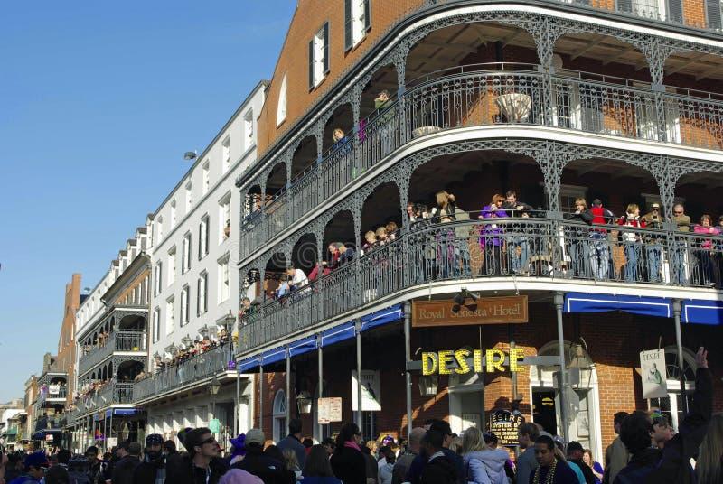 Carnaval 2010 de New Orleans imagen de archivo libre de regalías