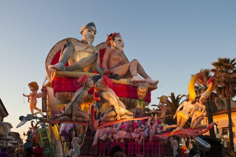 Carnaval 2011 de Viareggio imagen de archivo