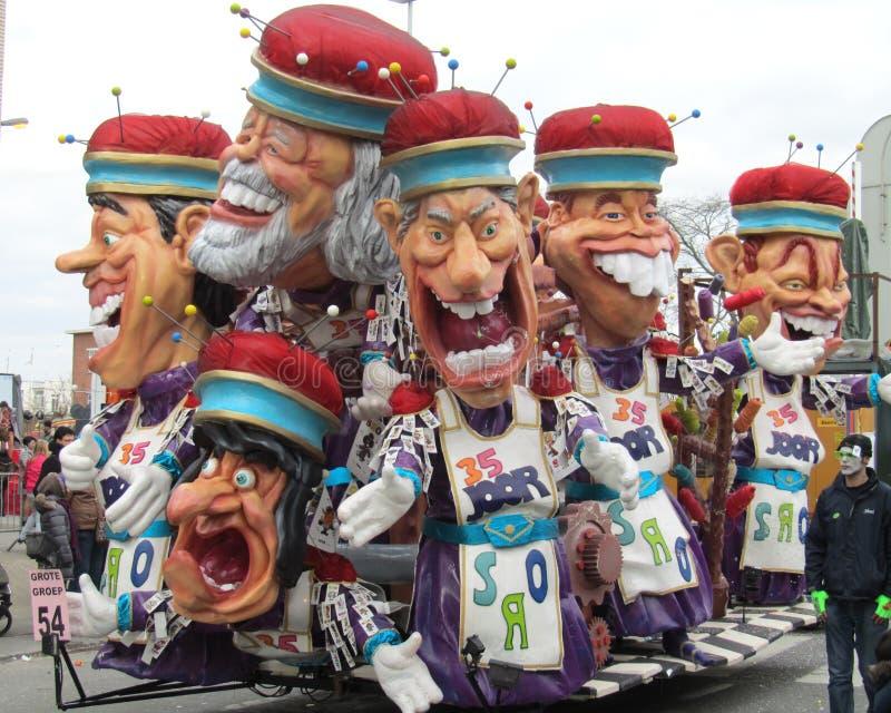Carnaval Aalst, Bélgica, 2014 imagem de stock