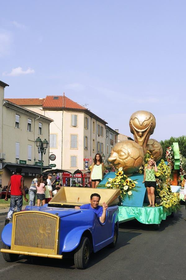 Carnaval Alés foto de archivo