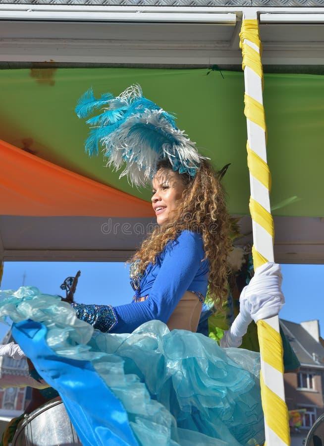 Carnaval anual en Nivelles, Bélgica fotografía de archivo