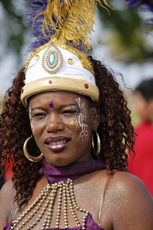 Carnaval anual Francés el 7 de febrero de 2010 de la Guayana fotografía de archivo