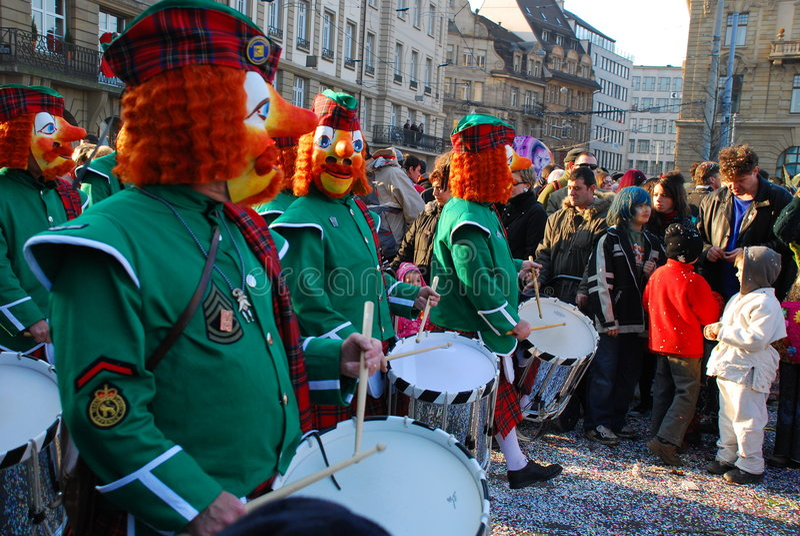 Carnaval in Bazel royalty-vrije stock foto's