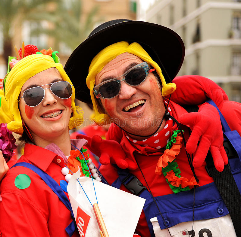 Carnaval of Cadiz, Andalusia, Spain royalty free stock photo