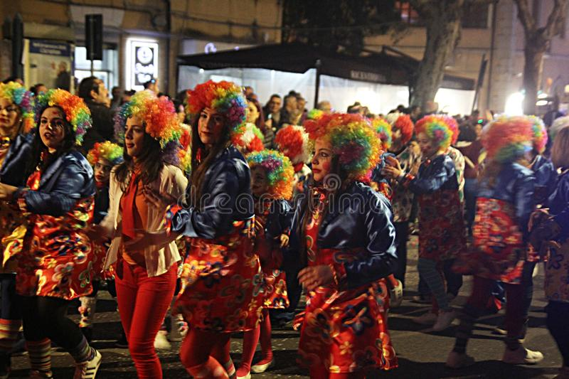 Carnaval-clowns royalty-vrije stock foto's