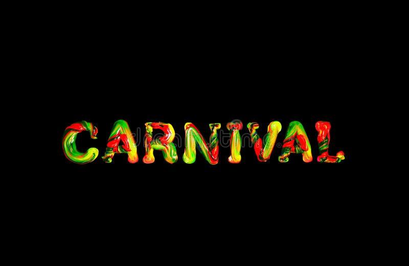 Carnaval coloré des textes 3d illustration libre de droits