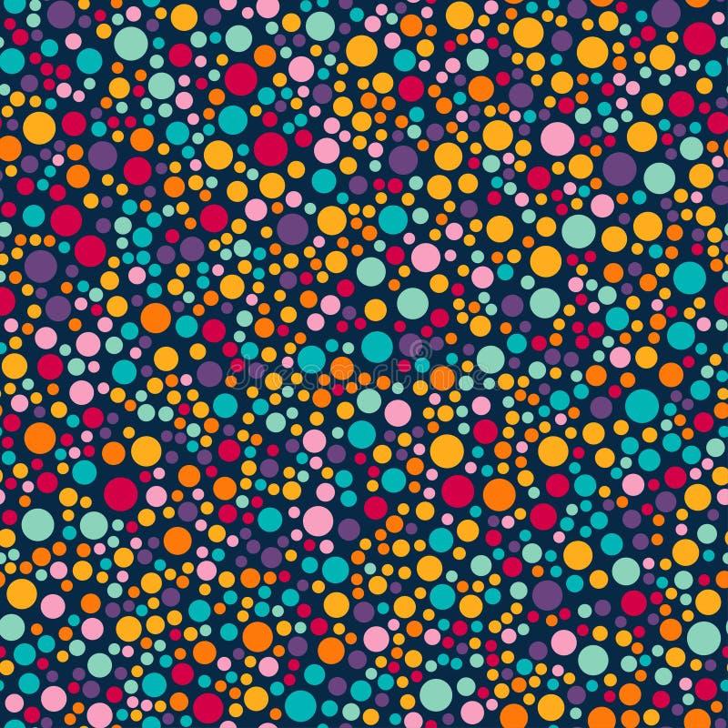 С днем рождения, оформление партии Картина вектора carnaval безшовная красочная Предпосылка детей праздничная с confetti Ребенк в иллюстрация вектора