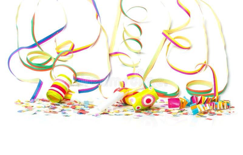 Carnaval, confettien, kleurrijke achtergrond royalty-vrije stock foto
