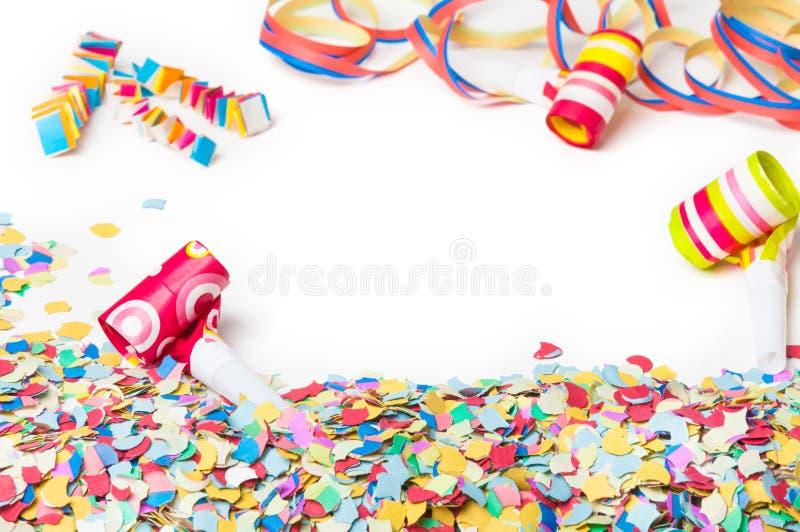 Carnaval, confettis, partie, fond photos libres de droits