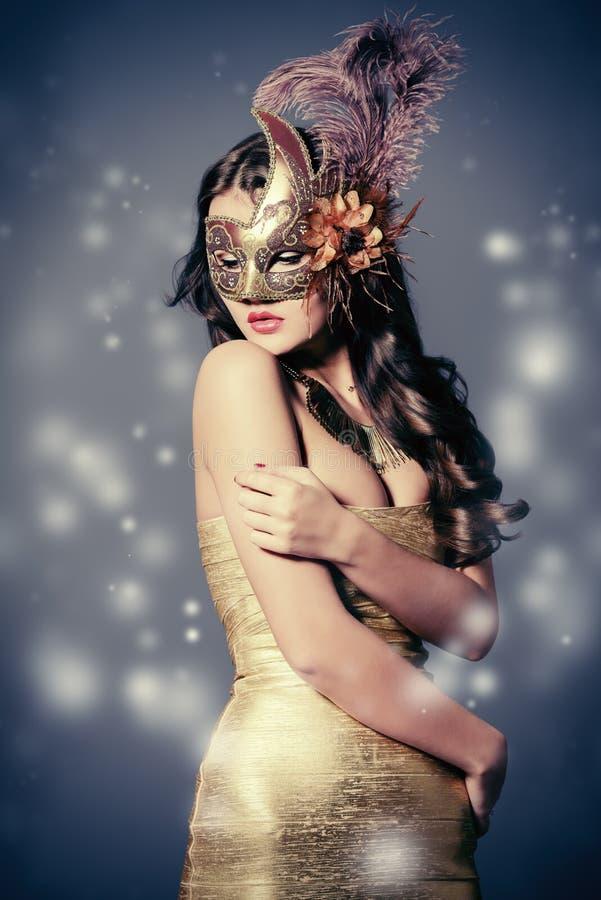 Carnaval d'or photographie stock libre de droits