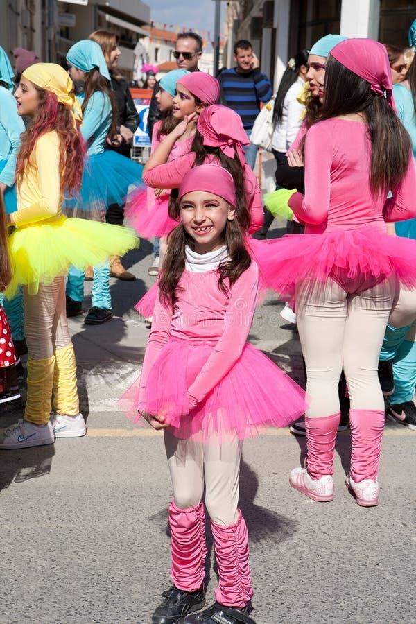 Carnaval das crianças de Limassol fotografia de stock