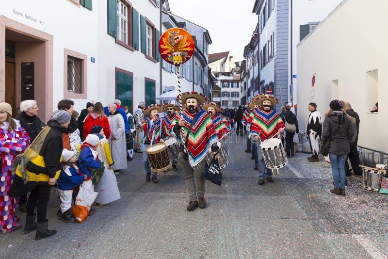 Carnaval 2017 de Bâle images libres de droits