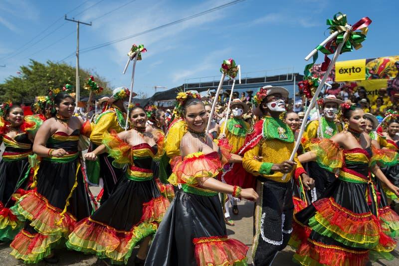 Carnaval de Barranquilla, em Colômbia fotografia de stock royalty free