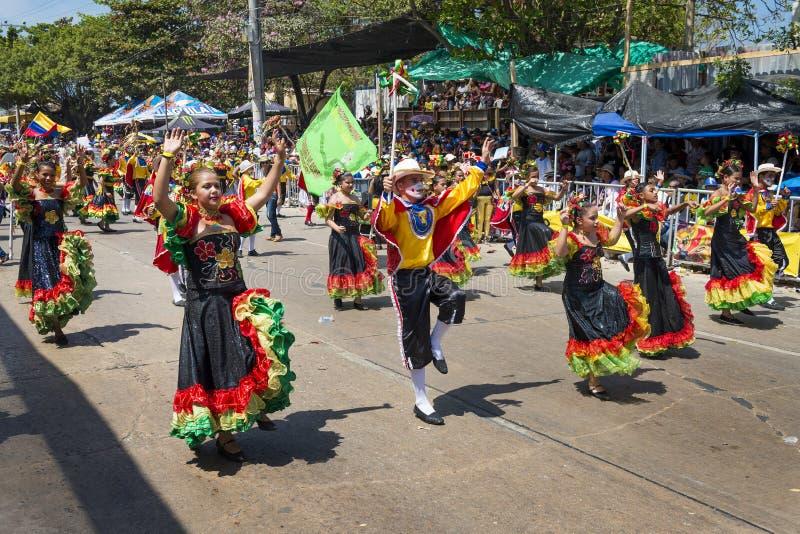 Carnaval de Barranquilla, em Colômbia fotografia de stock