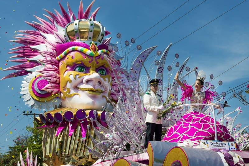 Carnaval de Barranquilla, em Colômbia imagem de stock
