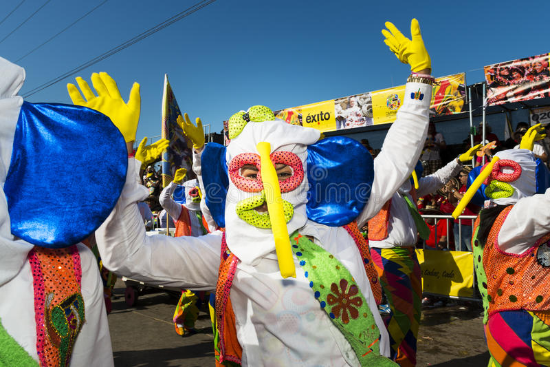 Carnaval de Barranquilla, em Colômbia imagens de stock