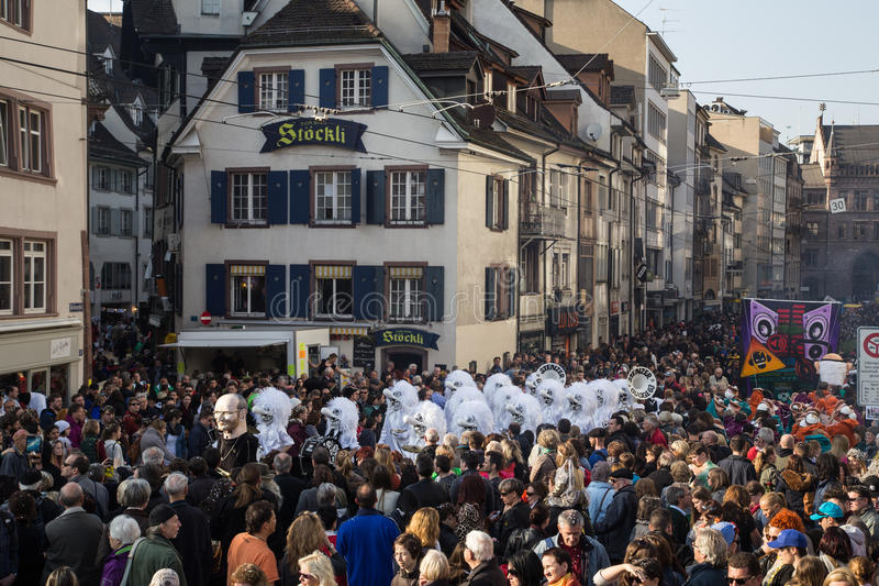 Carnaval de Basilea foto de archivo