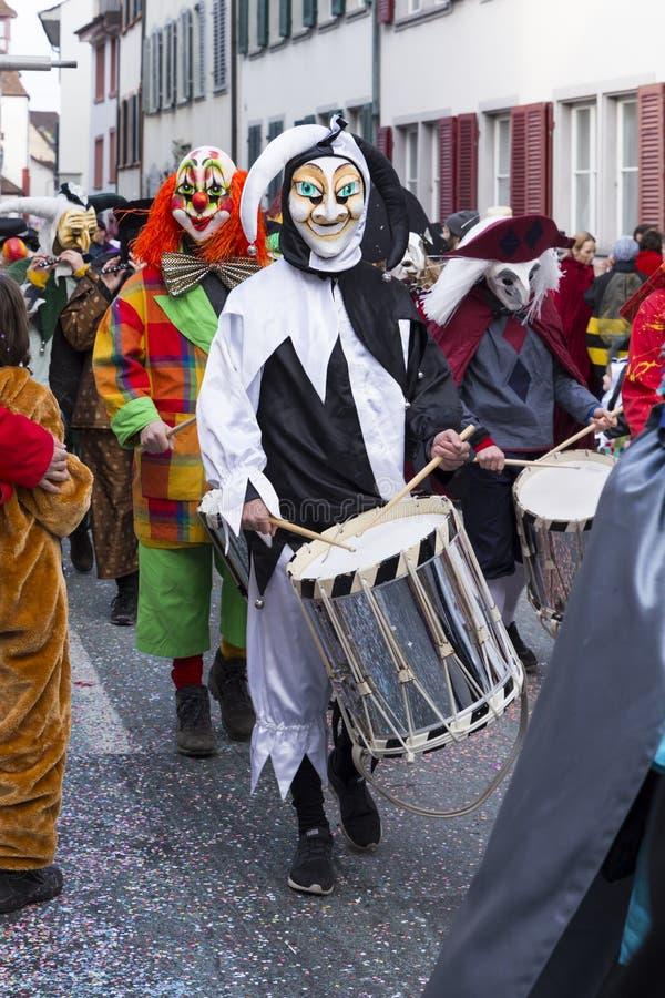 Carnaval 2017 de Basilea foto de archivo libre de regalías