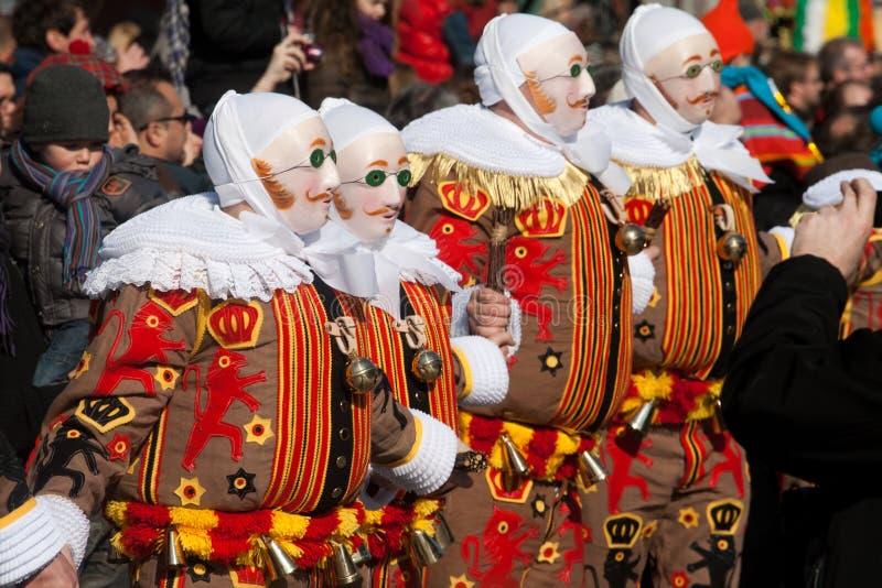 Carnaval de Binche. images libres de droits