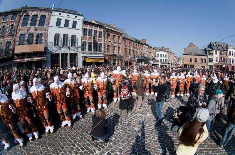 Carnaval DE Binche. royalty-vrije stock afbeeldingen