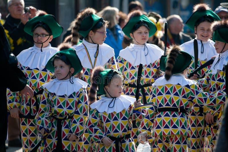 Carnaval de Binche. stock photo