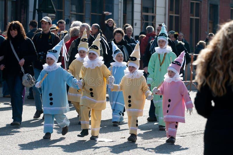 Carnaval DE Binche. stock afbeeldingen