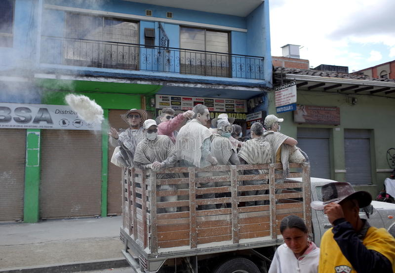 Carnaval DE Blancos y Negros stock foto