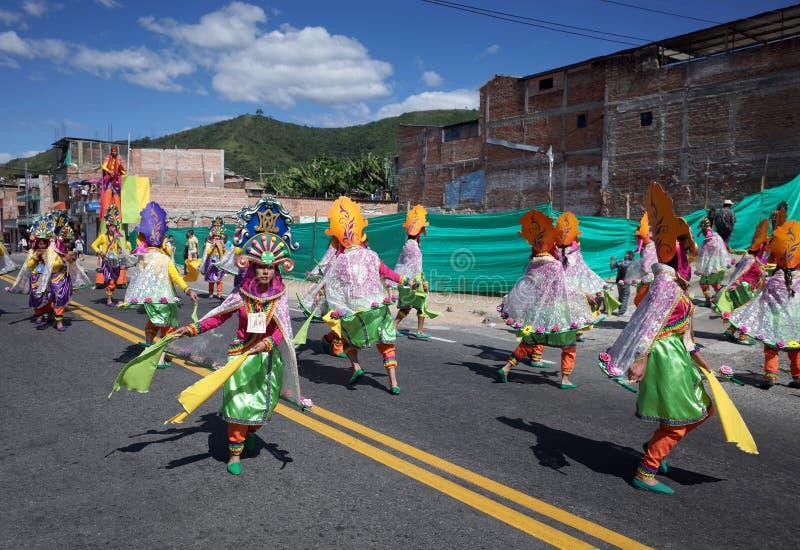 Carnaval de Blancos y Negros in Chachagui royalty free stock photo