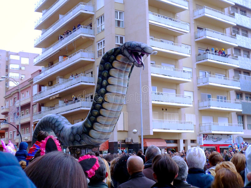 Carnaval de Cadiz 2017 andalusia spain imagem de stock royalty free