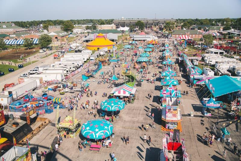 Carnaval de champ de foire d'état de l'Illinois à mi-chemin images libres de droits