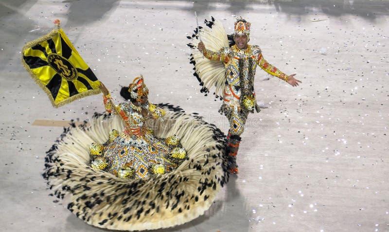 Carnaval de Coloful do brasileiro em Rio De janeiro imagem de stock