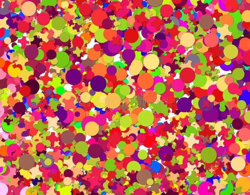 Carnaval de confettis illustration libre de droits