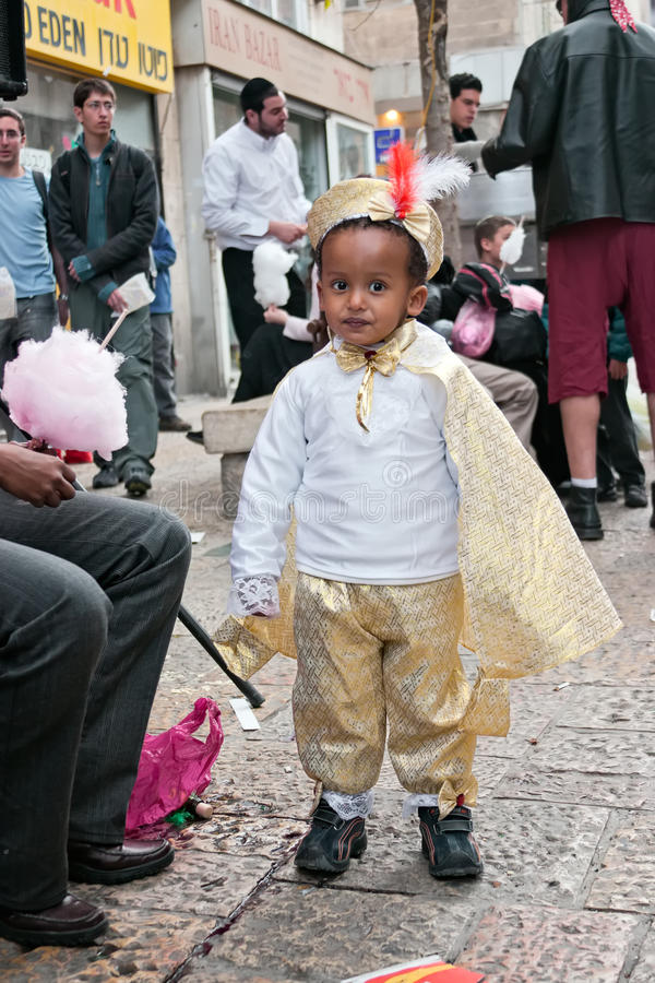 Carnaval de Jerusalem, Israel - de Purim fotos de stock