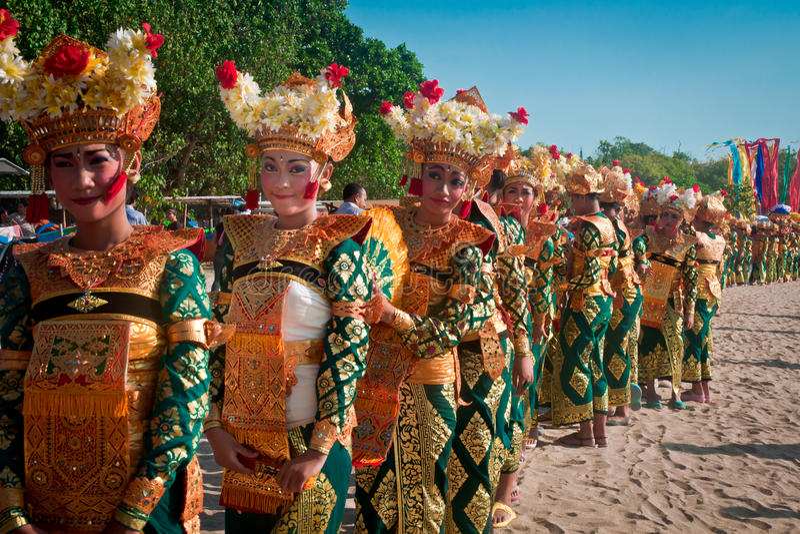 Carnaval de Kuta imagenes de archivo