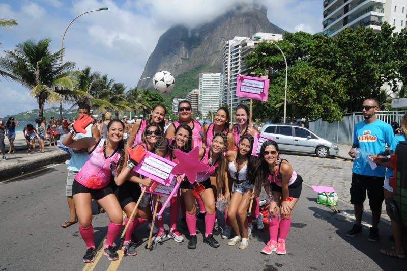 Carnaval de la calle en Rio de Janeiro, imagenes de archivo