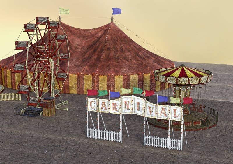 carnaval de la representación 3D libre illustration