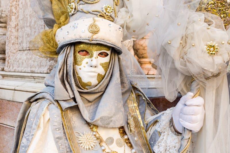 Carnaval de las máscaras de Venecia imagen de archivo