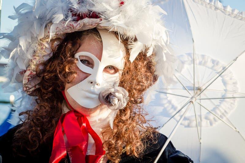 Carnaval de las máscaras de Venecia imagen de archivo libre de regalías