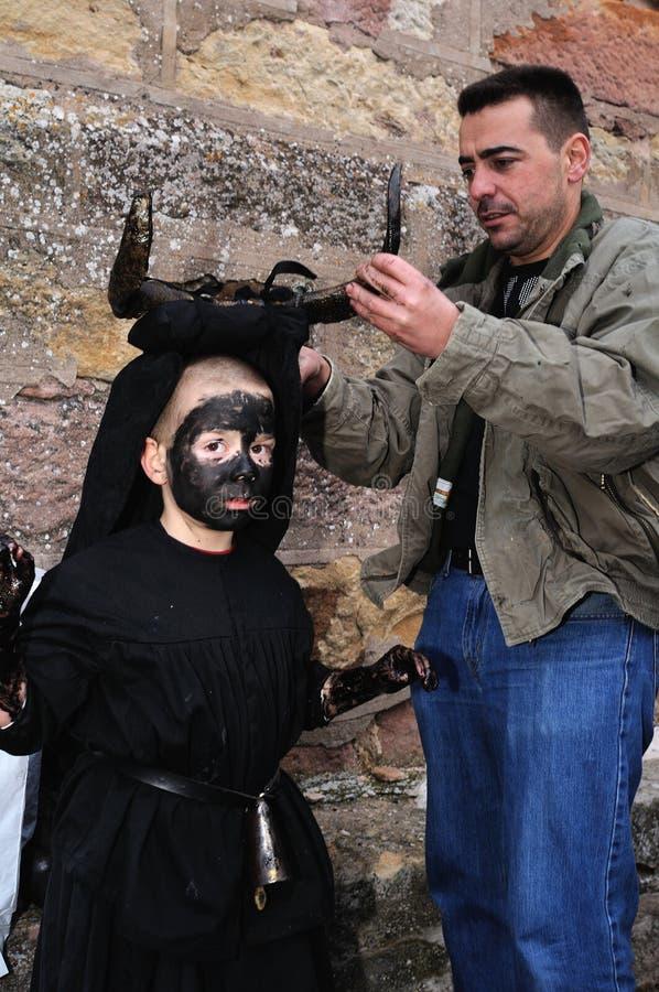 Carnaval de LUZON de los diablos. ESPAÑA imagenes de archivo