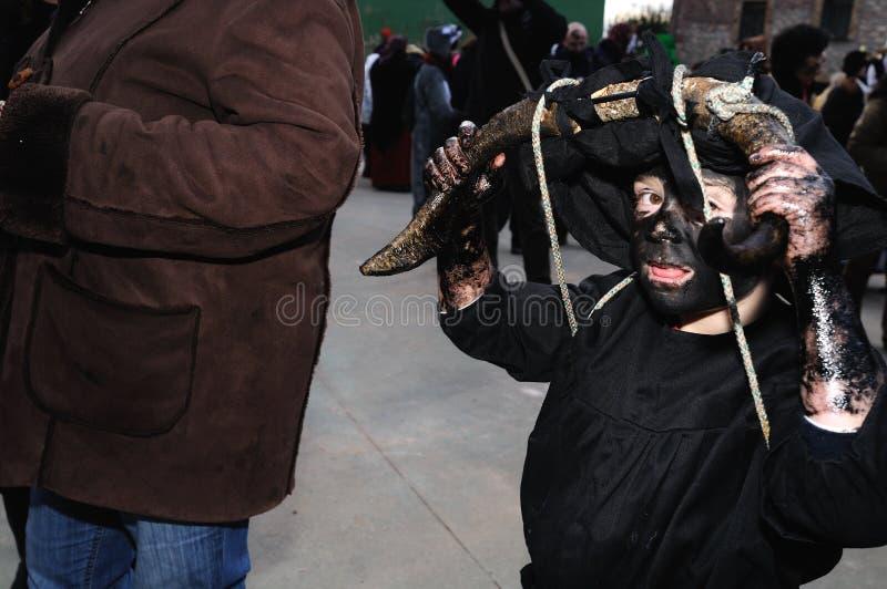 Carnaval de LUZON de los diablos. ESPAÑA fotografía de archivo