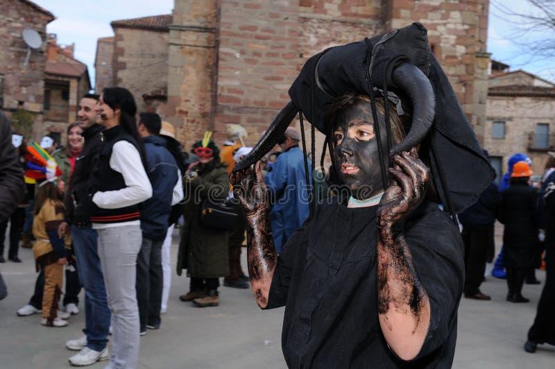 Carnaval de LUZON de los diablos. ESPAÑA fotografía de archivo libre de regalías