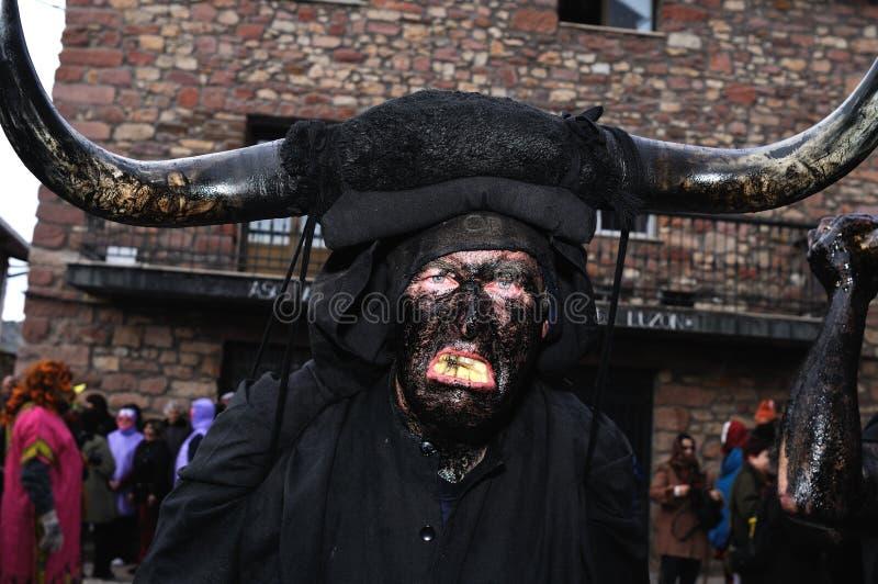 Carnaval de LUZON de los diablos. ESPAÑA fotos de archivo