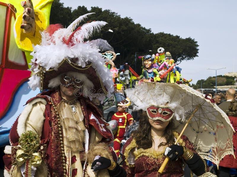 Carnaval de Malte image libre de droits