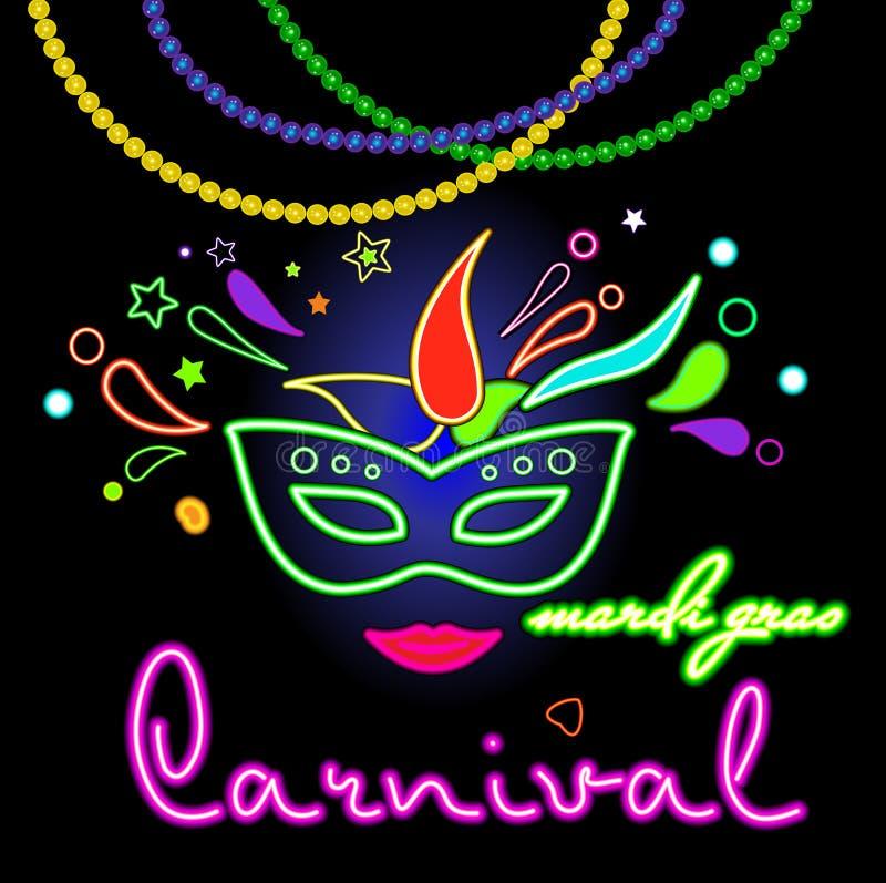 Carnaval de Mardi Gras, la Nouvelle-Orléans illustration stock