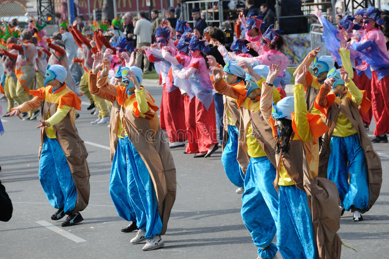 Carnaval de Nice, France. photographie stock