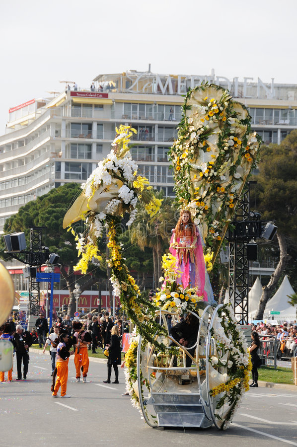 Carnaval de Nice, France. image stock