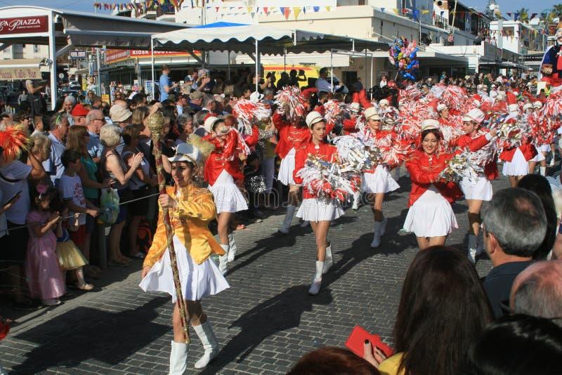 Carnaval 2016 de Paphos foto de archivo