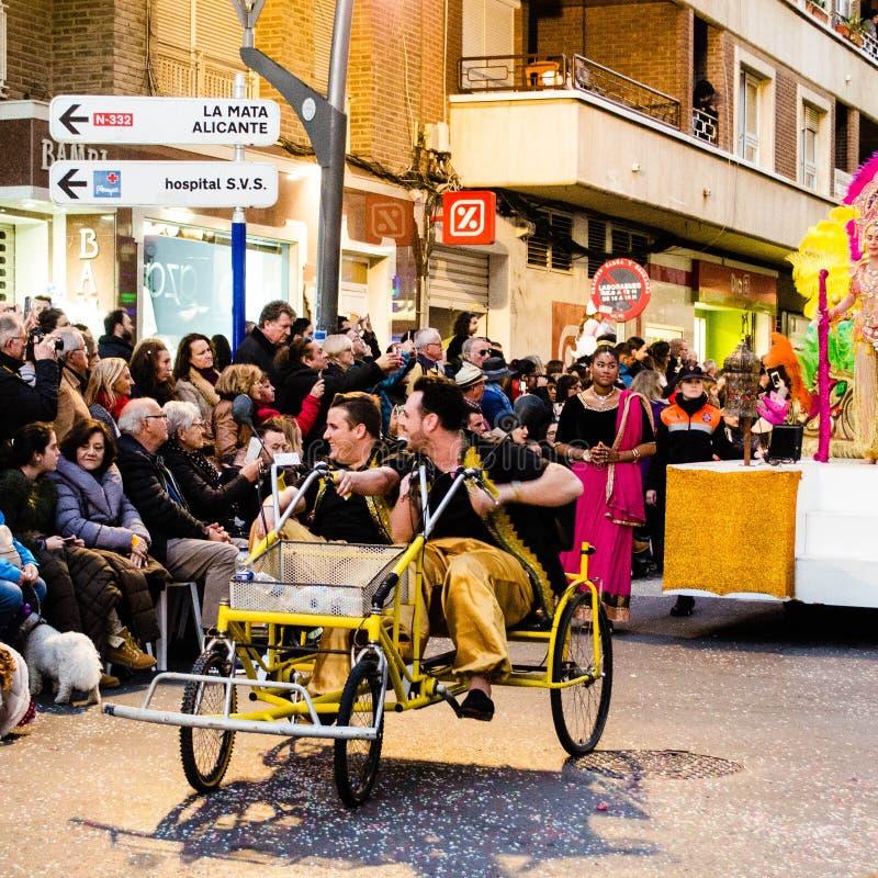 Carnaval de Torrevieja 2018 стоковое фото rf