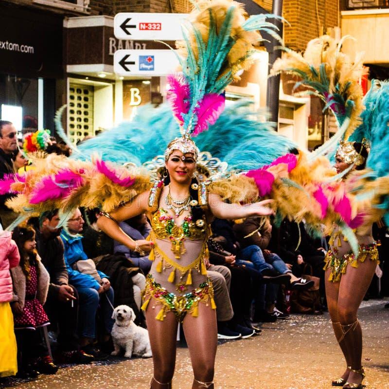Carnaval de Torrevieja 2018 стоковое изображение rf